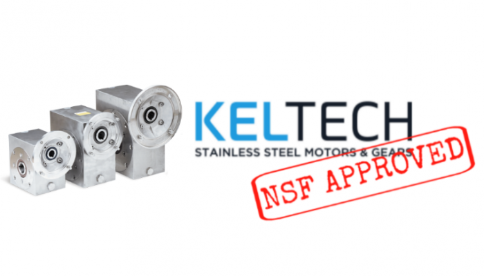 Keltech Stainless Steel Gearboxes are now NSF approved!